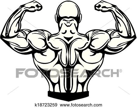 clip art of bodybuilding and powerlifting vector k18723259 rh fotosearch com powerlifting clipart free