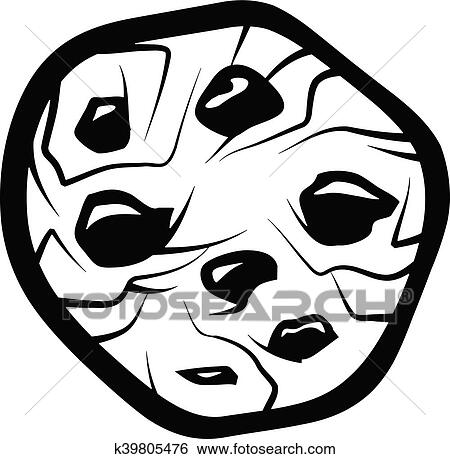 Clip Art Of Chocolate Chip Cookie K39805476