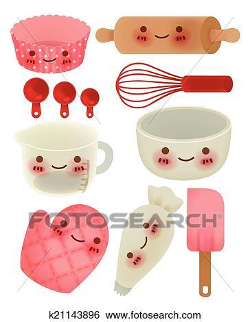 Clip Art Of Cute Kitchen Utensil K21143896