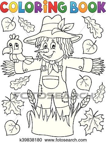 Clipart - libro colorear, espantapájaros, tema, 1 k39838180 - Buscar ...