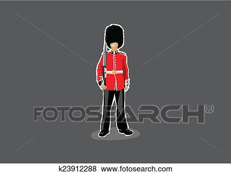 London Royal Guard Clip Art K23912288 Fotosearch