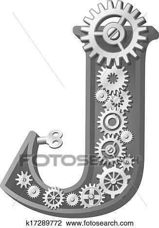 Clipart Of Mechanical Alphabet K17289772 Search Clip Art