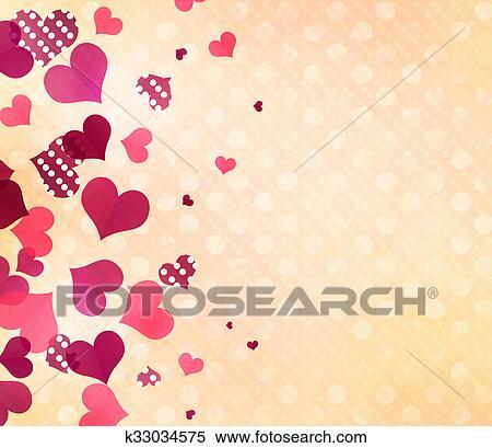 Hearts Dots Pink Pale Pattern WallpaperRomantic Paper Design Backdrop