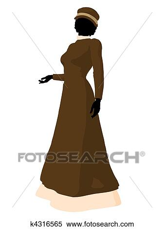 35d2024480e Stock Illustration of Victorian Woman Illustration Silhouette ...