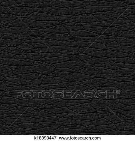 Seamless Wrinkled Black Leather Textured Material That Works As A Pattern In Any Direction