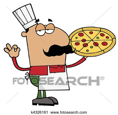 clipart of hispanic pizza chef man k4326161 search clip art rh fotosearch com hispanic family clipart hispanic clipart free
