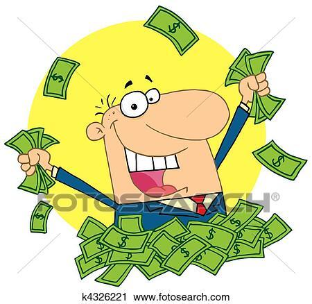 clipart of lucky rich man k4326221 search clip art illustration rh fotosearch com cash clipart black and white cash clipart black and white