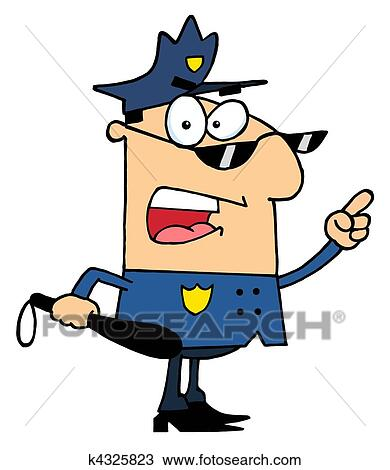 clipart of male caucasian police officer k4325823 search clip art rh fotosearch com police officer clip art black and white police officer clip art black and white