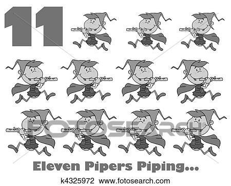 Clipart Schwarz Weiß Zahl 11 K4325972 Suche Clip Art