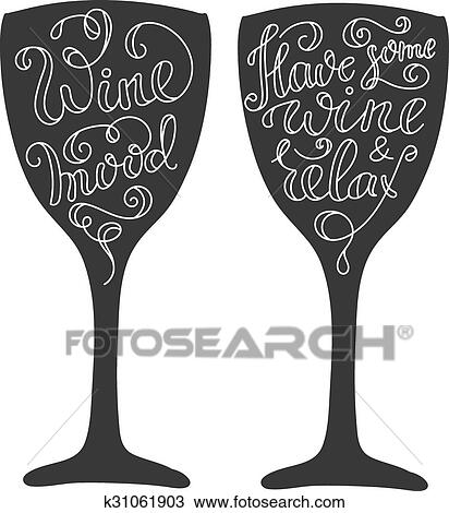 Wine Quotes | Clipart Of Wine Quotes On Wine Glass Silhoette K31061903 Search