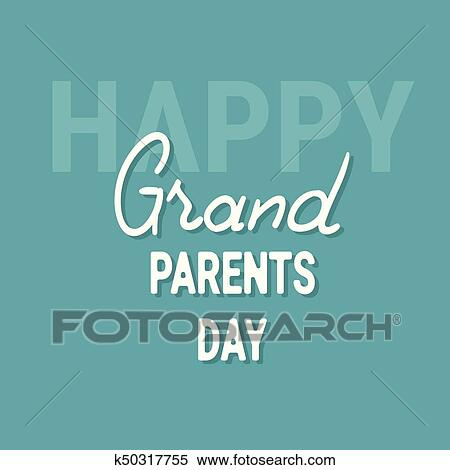 Clipart of happy grandparents day greeting card banner k50317755 clipart happy grandparents day greeting card banner fotosearch search clip art illustration m4hsunfo