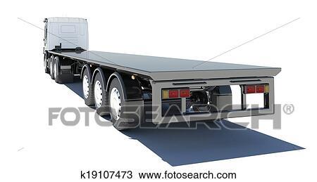 Dessin camion semi remorque plate forme k19107473 - Dessin de camion semi remorque ...