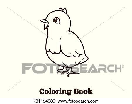 Clip Art - libro colorear, pollo, caricatura, educativo k31154389 ...