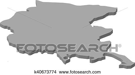 Friuli Italy Map.Clipart Of Map Friuli Venezia Giulia Italy 3d Illustration