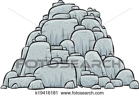 clipart of pile of rocks k19416181 search clip art illustration rh fotosearch com rock clipart images rocks clipart free