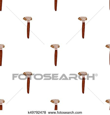Stock Illustration Of Stone Axe Icon In Cartoon Style Isolated On