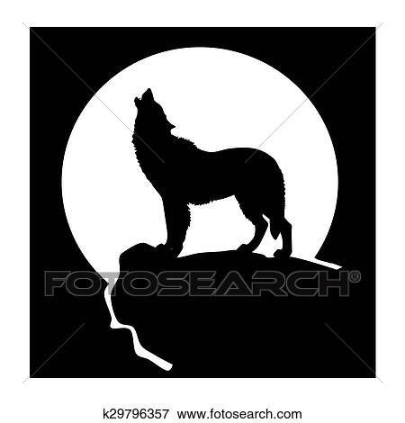 シルエット の A 狼 イラスト K29796357 Fotosearch
