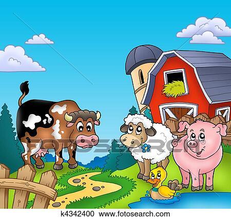 Cartoon Farm Animals - Bing Images   Animal clipart free, Cute cartoon  animals, Cartoon animals