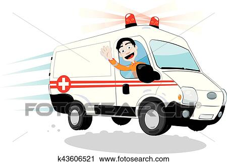 Kicééééé ? Rigolote-conducteur-ambulance-clipart__k43606521