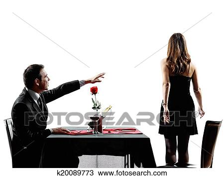 Stock Photo Of Couples Lovers Dating Dinner Dispute Separation