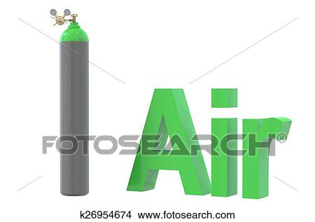 Gas cylinder with air, with pressure regulator and reducing val Drawings