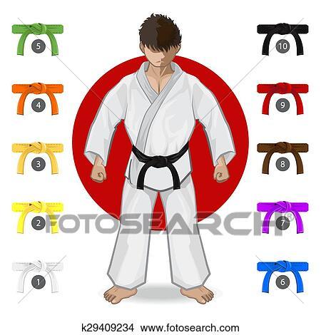 Become A Black Belt In Business - Black Red Karate Belt Clipart (#3585717)  - PikPng