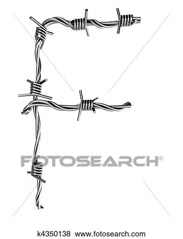 Stock Illustration - stacheldraht, alphabet, f k4350138 - Suche Clip ...