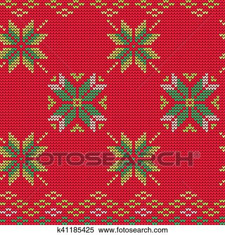 Christmas Sweater Pattern.Ugly Sweater Pattern Clipart