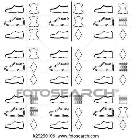 6b445a5be Calçado, etiqueta Clipart   k29290105   Fotosearch