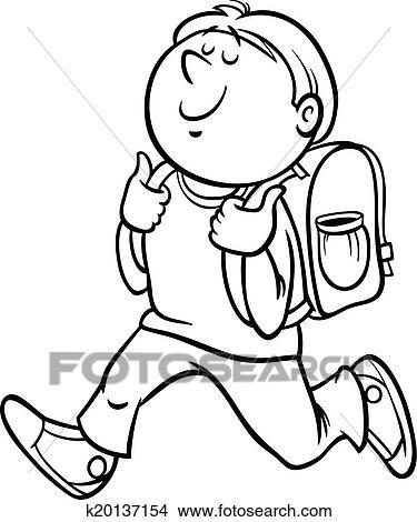 Clipart - niño, grado, estudiante, colorido, página k20137154 ...