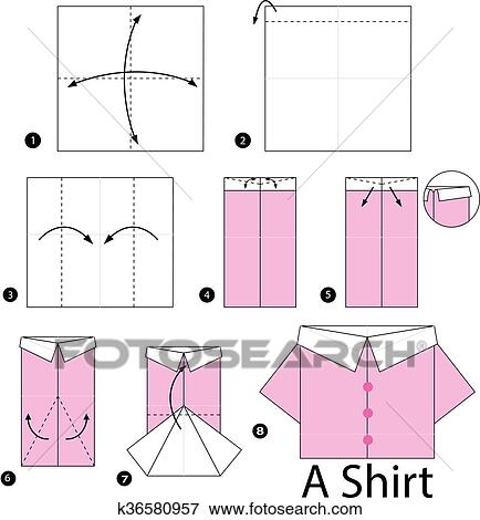 Valentine's Day - How to Fold an Origami Heart (Shirt and Tie)   470x434