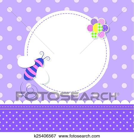 Clip art of purple bee baby girl greeting card k25406567 search clip art purple bee baby girl greeting card fotosearch search clipart illustration m4hsunfo