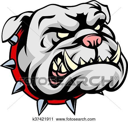 Clipart bouledogue dessin anim mascotte k37421911 - Bulldog dessin anime ...