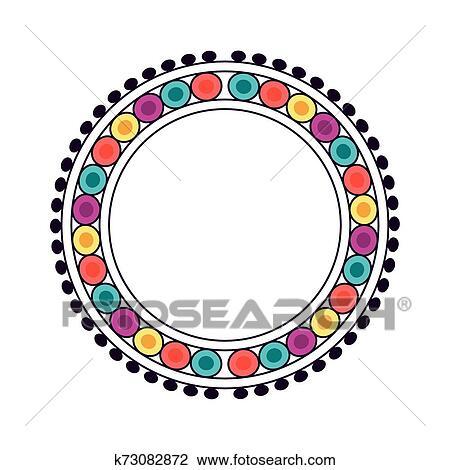 Circle Border wall sticker, vinyl decal | Circle borders, Circle clipart,  Borders and frames