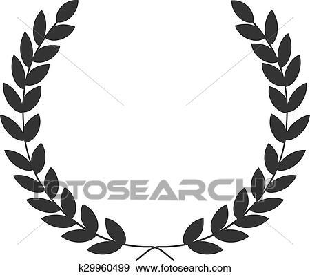 Clipart a couronne laurier symbole de victoire - Clipart couronne ...