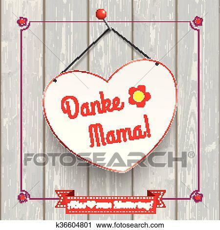Clipart - flores, corazón, vendimia, marco, madera, mamá k36604801 ...