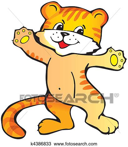 clipart of tiger cub k4386833 search clip art illustration rh fotosearch com tiger cub clipart black and white