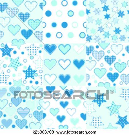Clip Art Of Baby Boy Seamless Background Patterns K40 Search Extraordinary Boy Patterns