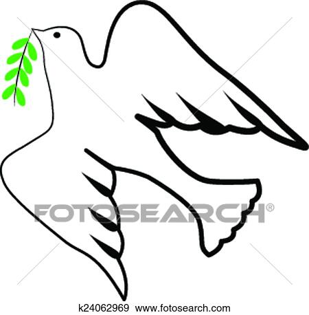Clip Art Of Bird Holy Spirit Symbol Logo K24062969 Search Clipart