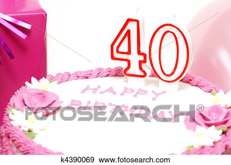 stock photograph of happy 40th birthday k4390069 search stock