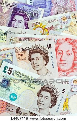 British Pound Notes Pounds Banknotes Of The Currency