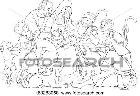 Baby Jesus Coloring Pages - Best Coloring Pages For Kids | 309x450