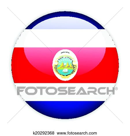 clip art of costa rica flag button k20292368 search clipart