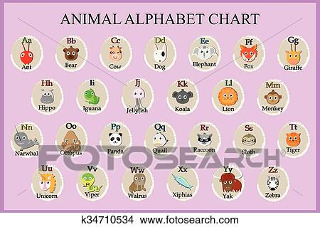 Feed The Panda Alphabet Clipart Letters ENG.-SPAN. (U.-L.-N.-S.)