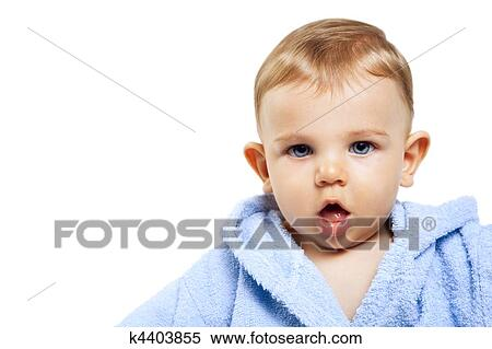 Cute Baby Boy With Funny Expression Stock Photography