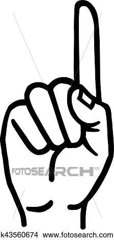 Hand, mit, zeigefinger Clipart | k43560674 | Fotosearch