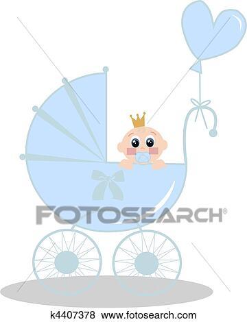 Clip Art Of Newborn Baby Boy K4407378