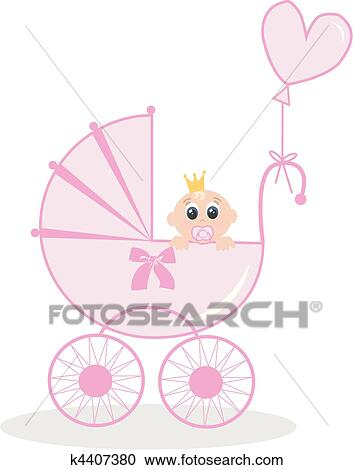 Newborn Baby Girl Clipart K4407380 Fotosearch