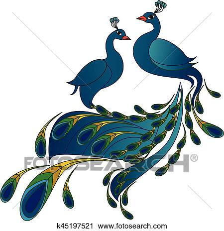 Transparent Peacock Clipart Free - Peacock Drawing With Open Feathers, HD  Png Download - vhv