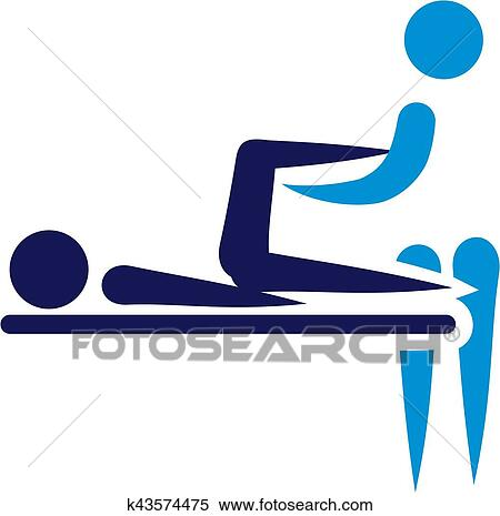 Clipart - Physical therapy - abstract icon. Fotosearch - Search Clip Art, Illustration Murals
